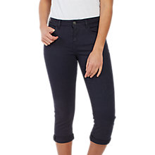 Buy Fat Face Garment Dye Cropped Trousers, Blue Online at johnlewis.com