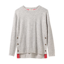 Buy White Stuff Cafe Button Side Jumper, Silver/Grey Online at johnlewis.com