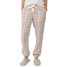 Buy Fat Face Check Cuff Pyjama Bottoms, Multi Online at johnlewis.com