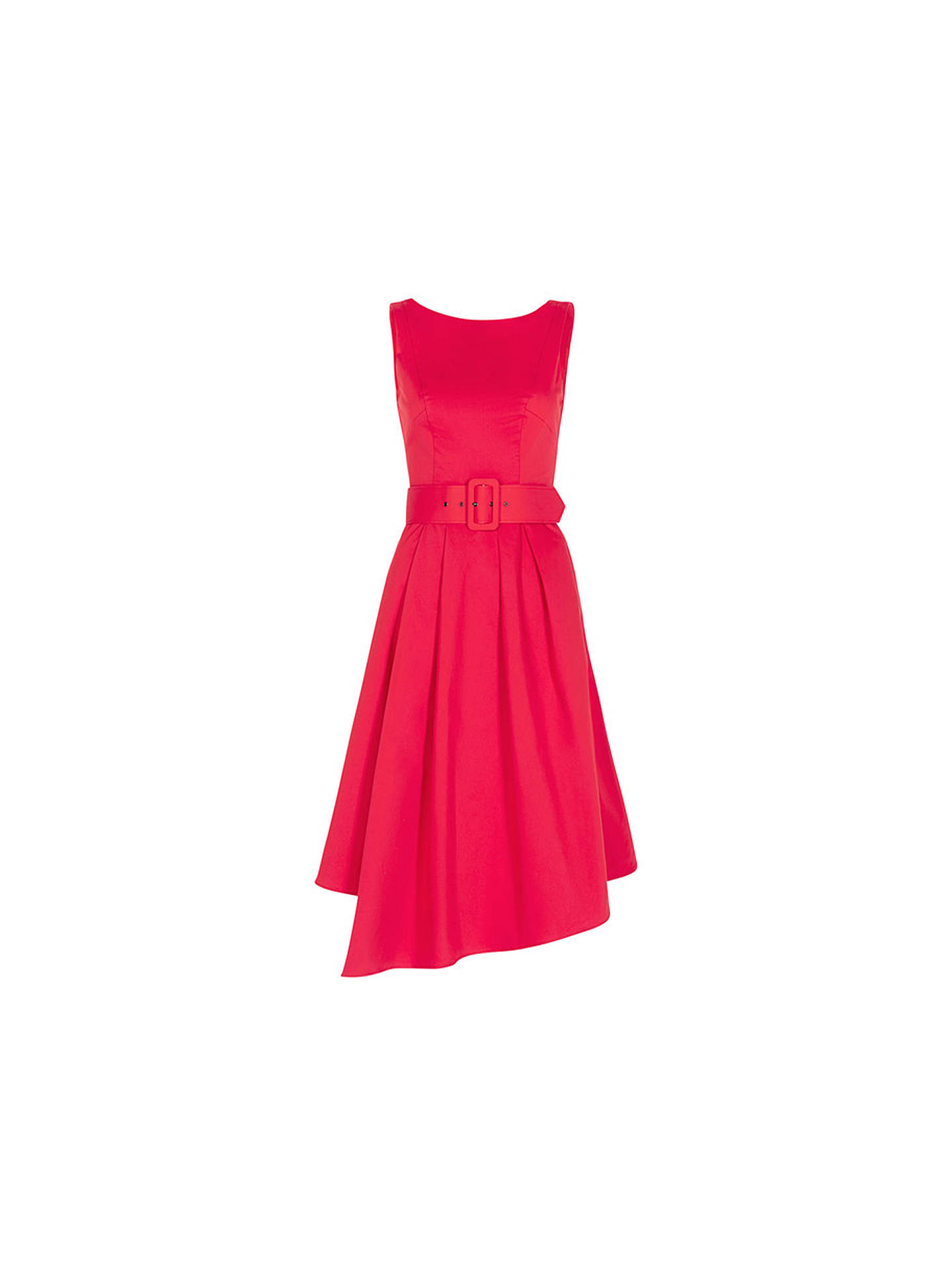BuyCoast Isabelle Belted Dress, Hot Pink, 6 Online at johnlewis.com