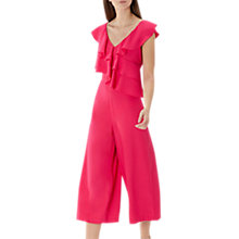 Buy Coast Jojo Ruffle Jumpsuit, Hot Pink Online at johnlewis.com