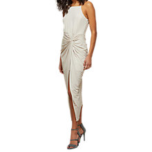 Buy Miss Selfridge Twist Maxi Dress, Nude Online at johnlewis.com
