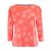 Buy White Stuff Maple Print Jersey Top, Fondant Pink Online at johnlewis.com