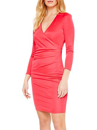 Damsel in a Dress Aya Slinky Wrap Dress, Cherry