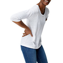 Buy White Stuff Highline Linen Jersey Top Online at johnlewis.com