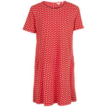 Buy Fat Face Simone Fleur Geometric Print Dress, Tomato Red Online at johnlewis.com