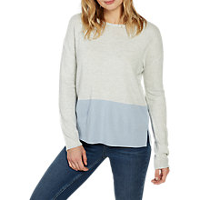 Buy Fat Face Isabel Colour Block Jumper, Surf Blue Online at johnlewis.com