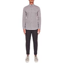 Buy Ted Baker T For Tall Lorritt Long Sleeve Cotton Printed Shirt, Navy Online at johnlewis.com