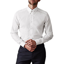 Buy Reiss Angel Slim Fit Collar Bar Dress Shirt, White Online at johnlewis.com