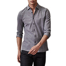 Buy Reiss Craig Cotton Pique Slim Fit Shirt, Grey Online at johnlewis.com