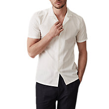Buy Reiss Guyver Cuban Collar Short Sleeve Shirt, White Online at johnlewis.com