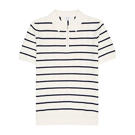 Buy Reiss Tristain Knitted Stripe Polo Shirt Online at johnlewis.com