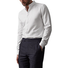 Buy Reiss Romeo Grandad Collar Shirt, White Online at johnlewis.com