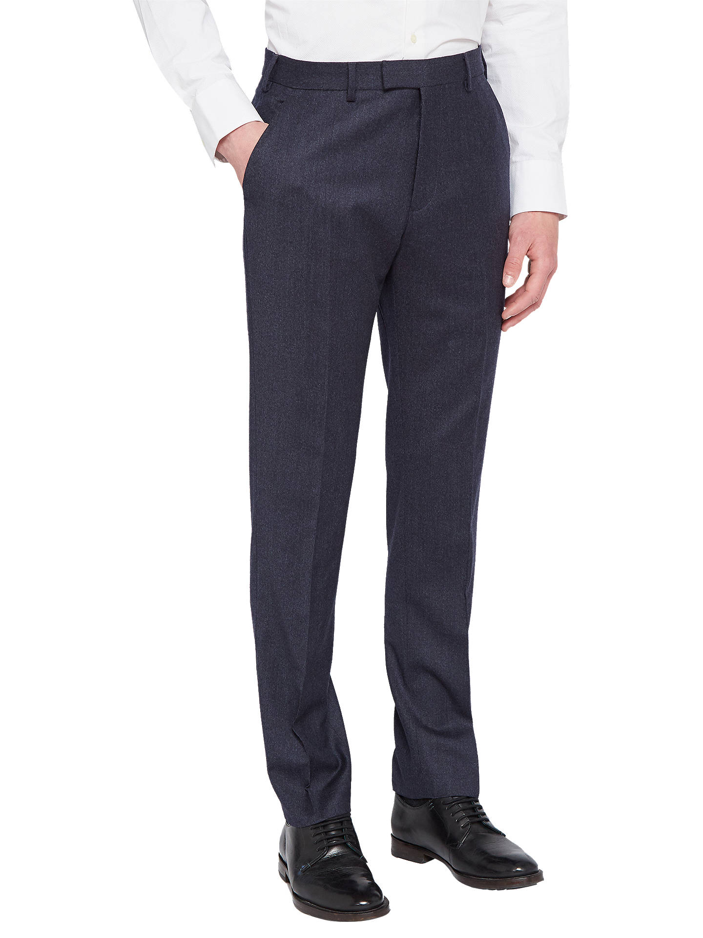 Buy Ted Baker Caspiat Sterling Wool Flannel Tailored Suit Trousers, Navy, 32S Online at johnlewis.com