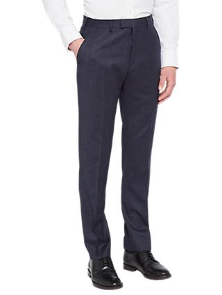 Ted Baker Caspiat Sterling Wool Flannel Tailored Suit Trousers, Navy