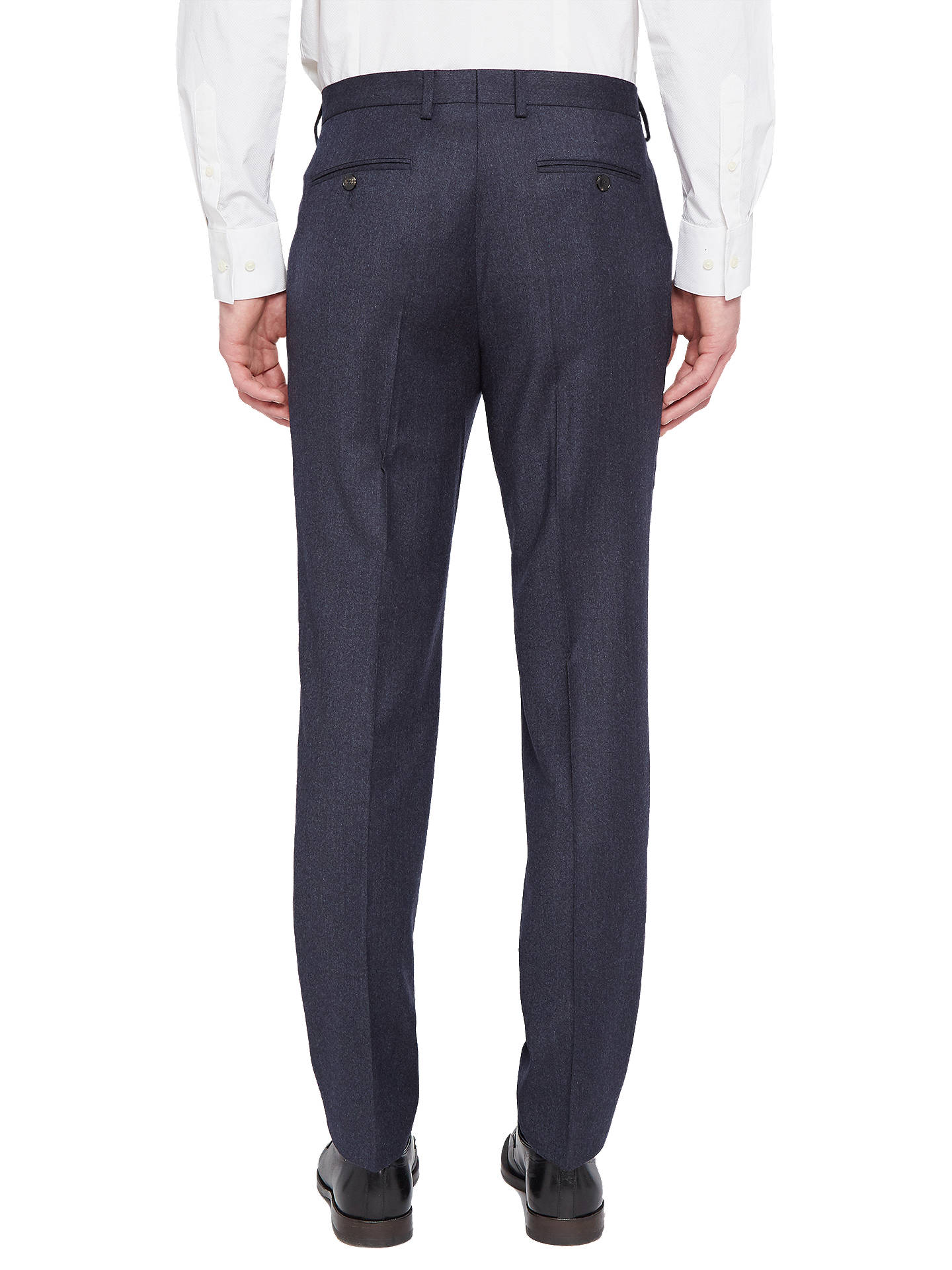 Buy Ted Baker Caspiat Sterling Wool Flannel Tailored Suit Trousers, Navy, 32R Online at johnlewis.com