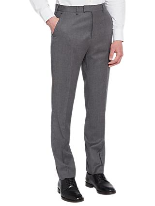 Ted Baker Caspiat Sterling Wool Flannel Tailored Suit Trousers, Charcoal