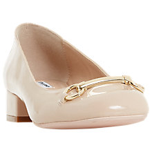 Buy Dune Apricot Block Heel Court Shoes, Nude Online at johnlewis.com