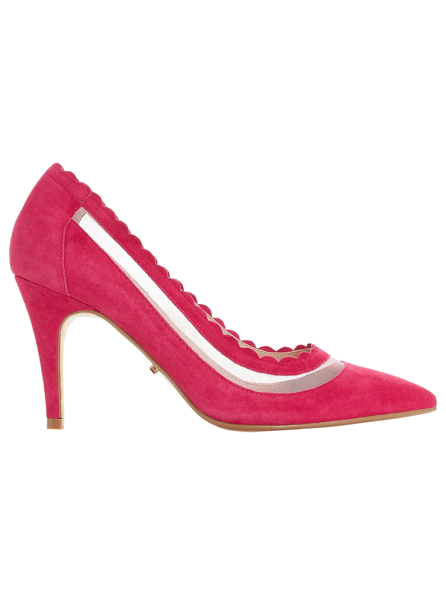 ef132b90dff Dune Britania Scallop Court Shoes, Pink Suede at John Lewis & Partners