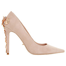 Buy Dune Boston Ivy Embellished Stiletto Court Shoes, Blush Suede Online at johnlewis.com