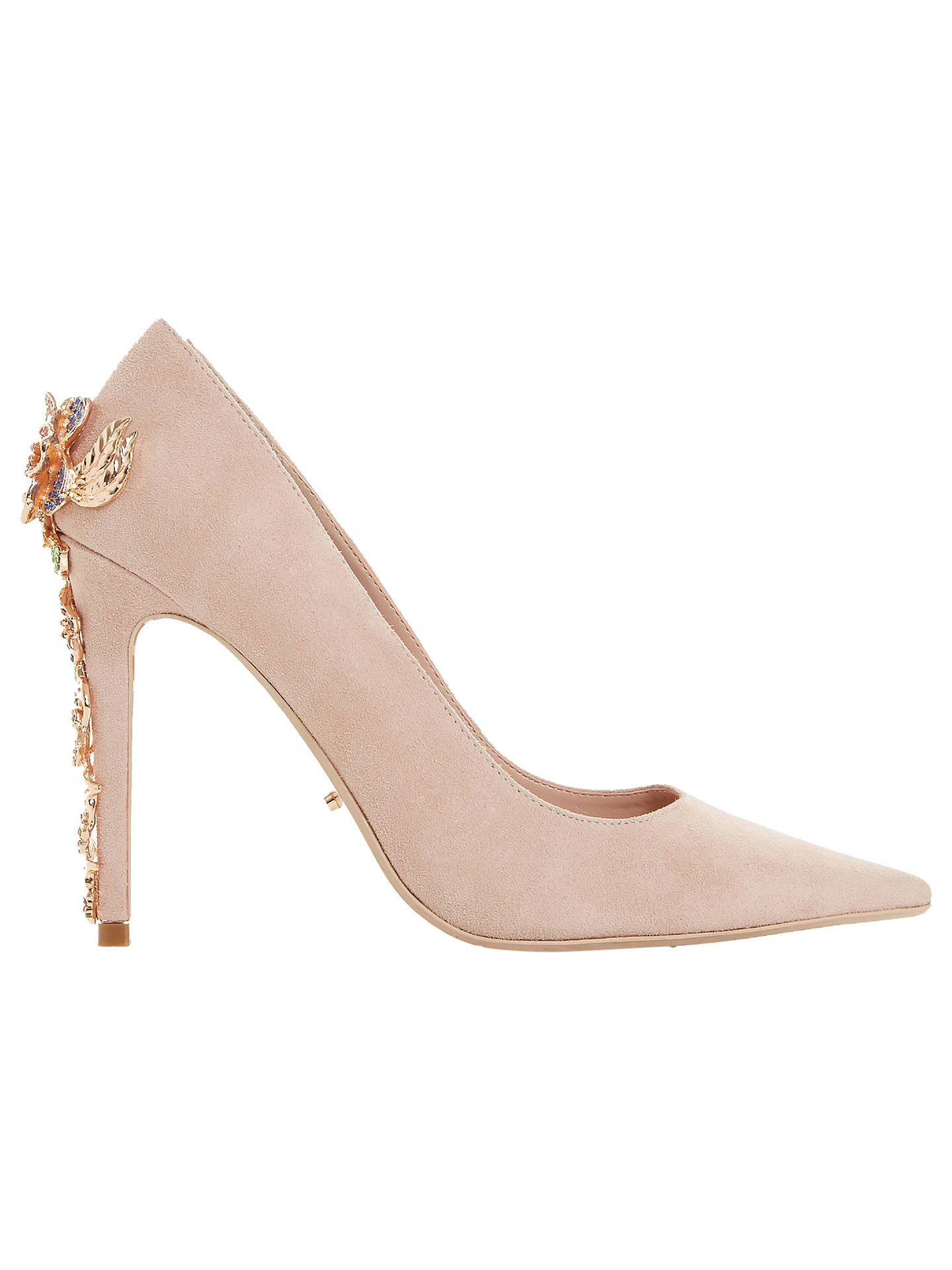 cd0fdd179a Buy Dune Boston Ivy Embellished Stiletto Court Shoes, Blush Suede, 5 Online  at johnlewis ...