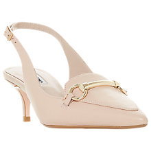 Buy Dune Chile Slingback Court Shoes, Blush Leather Online at johnlewis.com
