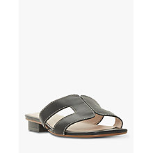 Buy Dune Loupe Leather Sandals, Black Online at johnlewis.com