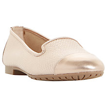Buy Dune Geneveve Round Toe Loafers, Rose Gold Online at johnlewis.com