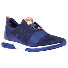 Buy Ted Baker Cepap Lace Up Trainers, Navy Suede Online at johnlewis.com