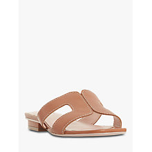 Buy Dune Loupe Slide Sandals, Tan Leather Online at johnlewis.com
