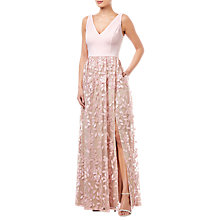 Buy Adrianna Papell Embellished Tulle Dress, Satin Blush Online at johnlewis.com