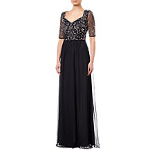 Buy Adrianna Papell Petal Tulle Dress, Black Online at johnlewis.com
