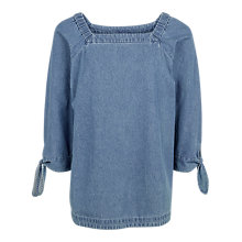 Buy Fat Face Bonnie Cotton Top, Chambray Online at johnlewis.com