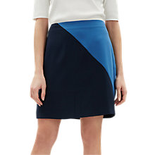 Buy Jaeger Colour Block Mini Skirt, Dark Blue Online at johnlewis.com