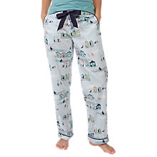 Buy Fat Face Puffin Seaside Print Lounge Pants, Navy Online at johnlewis.com