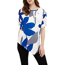 Buy Phase Eight Lana Asymmetric Floral Blouse, Blue/Multi Online at johnlewis.com