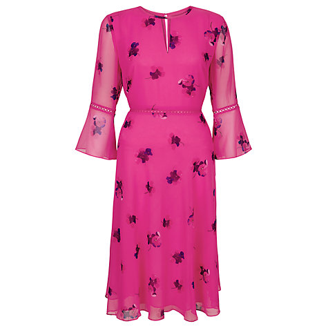 Buy Hobbs Lottie Dress, Bright Pink Online at johnlewis.com