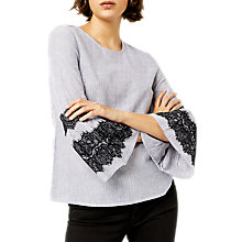 Buy Warehouse Textured Lace Top, Multi Online at johnlewis.com