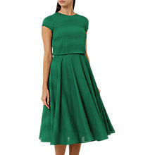 Buy Hobbs Kiona Dress, Green Online at johnlewis.com