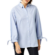 Buy Warehouse Tie Cuff Shirt, Light Blue Online at johnlewis.com