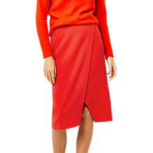 Buy Warehouse Wrap Pencil Skirt, Bright Red Online at johnlewis.com