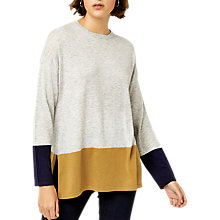 Buy Warehouse Colour Block Jumper, Grey/Multi Online at johnlewis.com