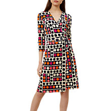 Buy Hobbs Delilah Wrap Dress, Multi Online at johnlewis.com
