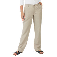 Buy Fat Face Linen Trousers, Misty Surf Online at johnlewis.com