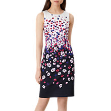 Buy Hobbs Fiona Dress, Navy Ivory Online at johnlewis.com