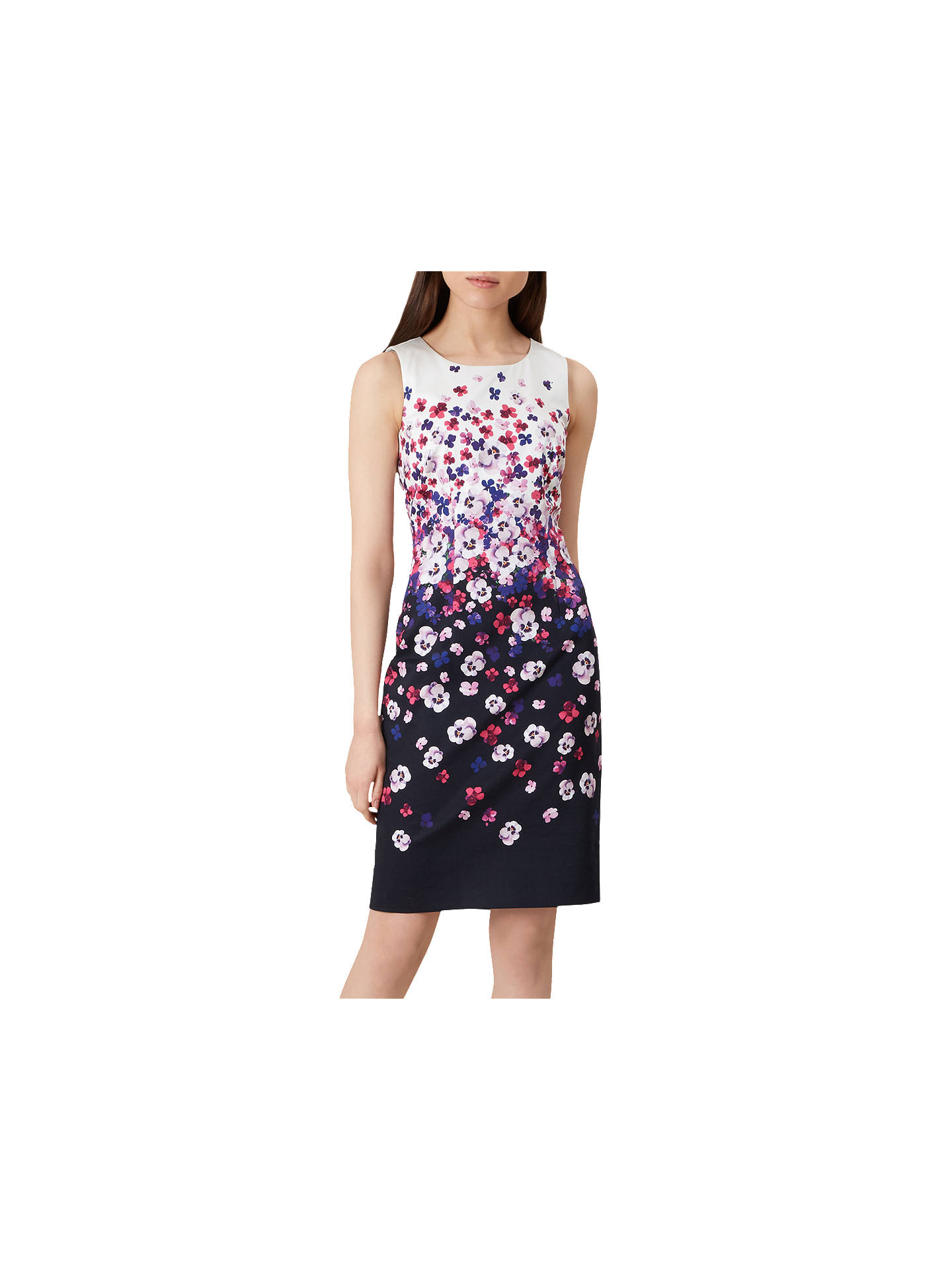 BuyHobbs Fiona Dress, Navy Ivory, 6 Online at johnlewis.com