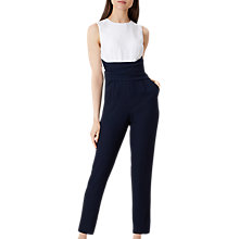 Buy Hobbs Twitchill Jumpsuit, Navy Ivory Online at johnlewis.com
