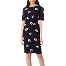 Buy Hobbs Stellie Dress, Navy/Multi Online at johnlewis.com