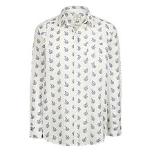 Buy Fat Face Olivia Woodblock Paisley Shirt, White Online at johnlewis.com