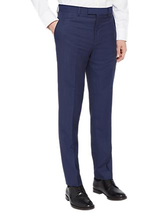 Ted Baker Rokot Sovereign Birdseye Suit Trousers, Blue